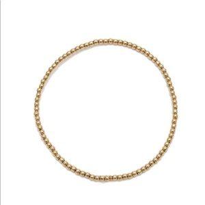 Lot Two (2) Alexa Leigh 2mm gold ball bracelets